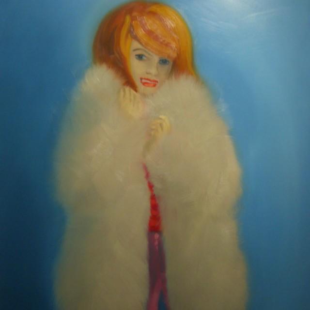 Jacqui with fur coat