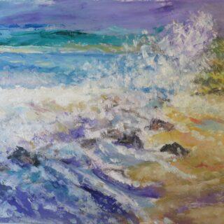 crashing waves on the shore, west coast of Scotland